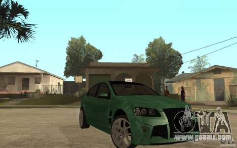 Holden Commodore 2010 for GTA San Andreas back view