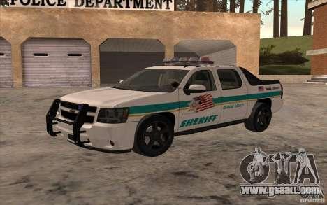 Chevrolet Avalanche Orange County Sheriff for GTA San Andreas