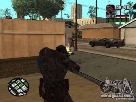 Marcus Fenix from Gears of War 2 for GTA San Andreas third screenshot