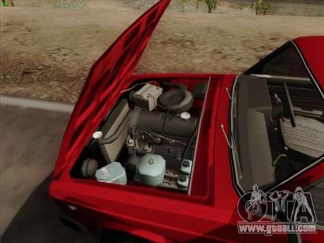 Lada 2105 RIVA (export) 2.0 for GTA San Andreas bottom view