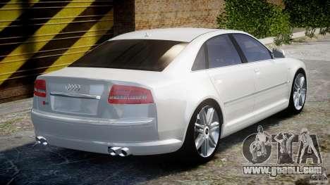Audi S8 D3 2009 for GTA 4 upper view