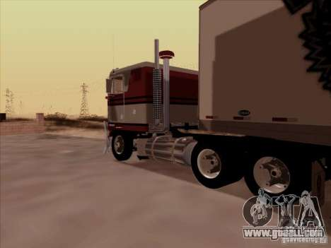 Kenworth K100 for GTA San Andreas back left view
