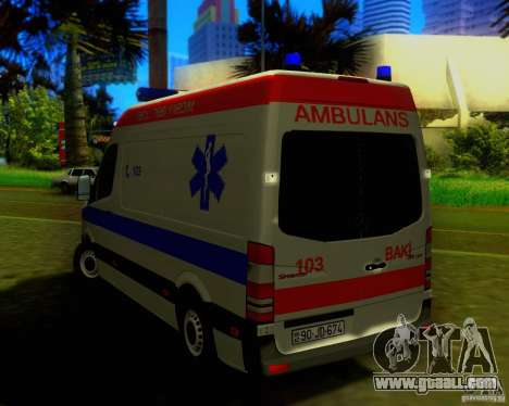 Mercedes-Benz Sprinter Baku Ambulans for GTA San Andreas right view