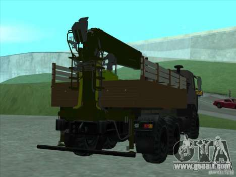 6317 MAZ manipulator for GTA San Andreas right view