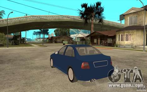 Audi A4 for GTA San Andreas back left view