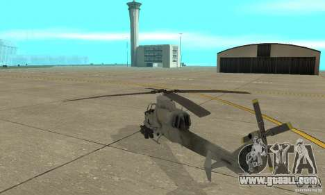 Hunter - AH-1Z Cobra for GTA San Andreas back left view