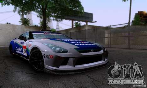 Nissan GTR R35 Tuneable for GTA San Andreas right view