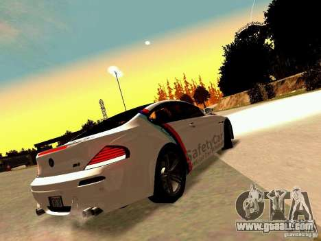 BMW M6 MotoGP SafetyCar for GTA San Andreas back view