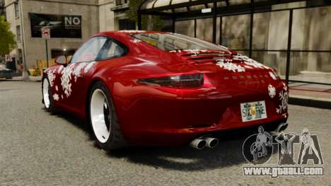 Porsche 911 (991) Carrera S for GTA 4 back left view