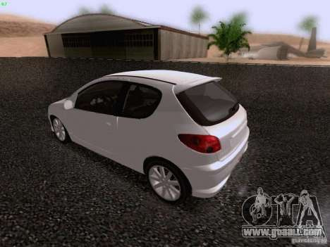 Peugeot 206 for GTA San Andreas side view
