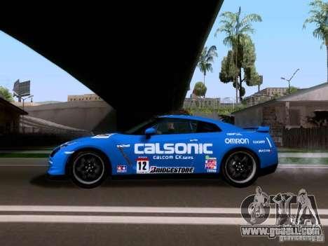 Nissan GTR 2010 Spec-V for GTA San Andreas back left view