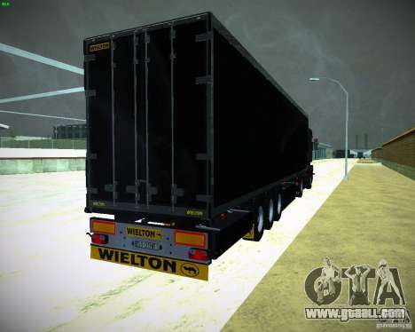 Wielton for GTA San Andreas back left view