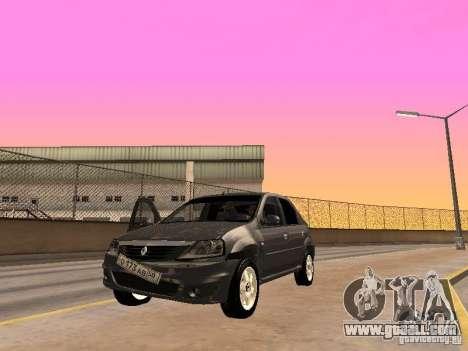 Renault Logan for GTA San Andreas back view