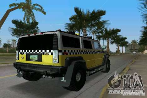 Hummer H2 SUV Taxi for GTA Vice City back left view