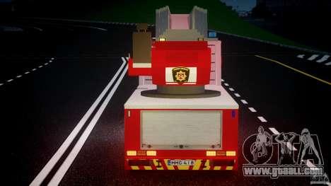 Scania R580 Fire ladder PK106 for GTA 4 interior