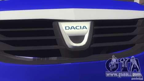 Dacia Logan MCV Facelift for GTA San Andreas back left view