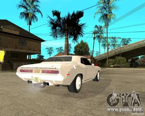 Dodge Challenger R/T Hemi 70 for GTA San Andreas back left view