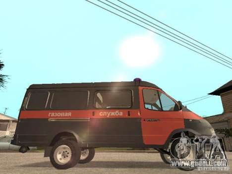 Gazelle 2705 gas service for GTA San Andreas back left view