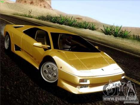 Lamborghini Diablo VT 1995 V3.0 for GTA San Andreas back view