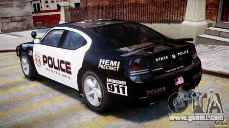 Dodge Charger NYPD Police v1.3 for GTA 4 right view
