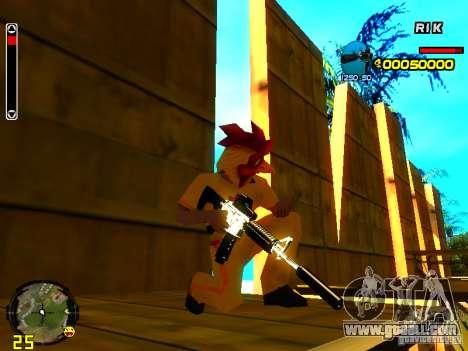 White Chrome Guns for GTA San Andreas forth screenshot