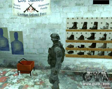 Skin infantryman CoD MW 2 for GTA San Andreas forth screenshot