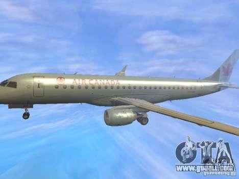 Embraer ERJ 190 Air Canada for GTA San Andreas upper view