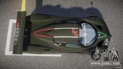 Pagani Zonda R 2009 for GTA 4 upper view