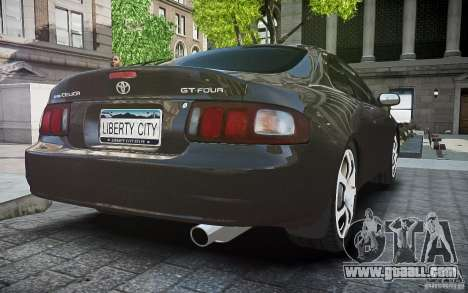 Toyota Celica GT-FOUR for GTA 4 back view