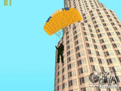 Parachute from TBOGT v2 for GTA San Andreas