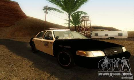 Ford Crown Victoria Oklahoma Police for GTA San Andreas