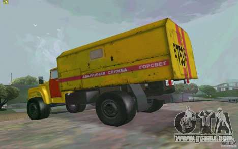 ZIL 130 night watch for GTA San Andreas left view
