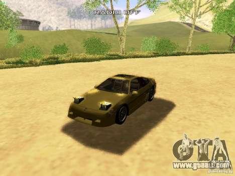 Pontiac Fiero V8 for GTA San Andreas interior