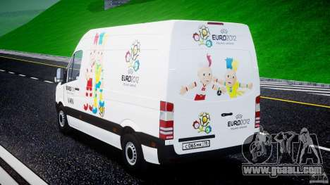 Mercedes-Benz Sprinter Euro 2012 for GTA 4 side view