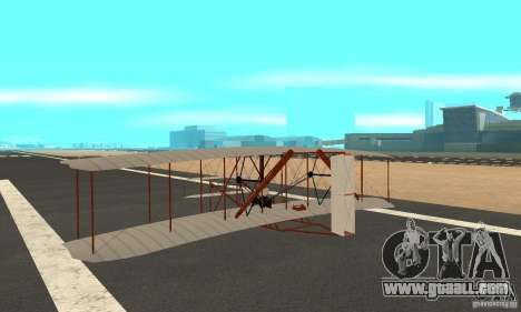 The Wright Flyer for GTA San Andreas back left view