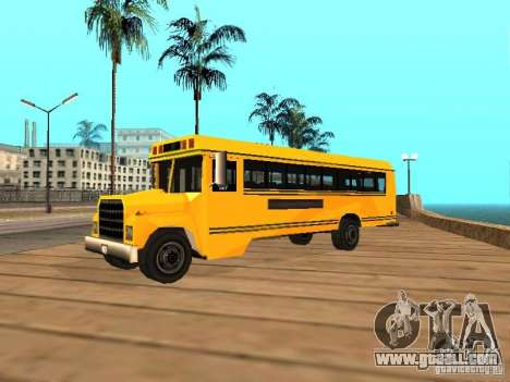 School bus for GTA San Andreas left view
