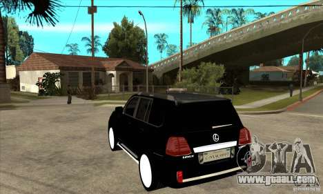 Lexus LX 570 2010 for GTA San Andreas back left view