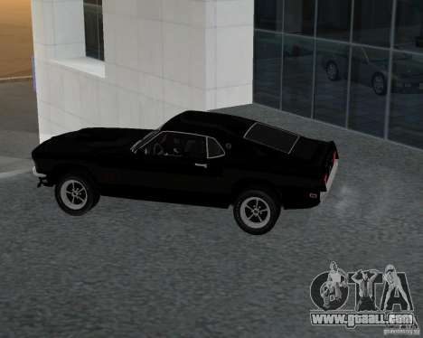 Ford Mustang Boss 1969 for GTA San Andreas left view