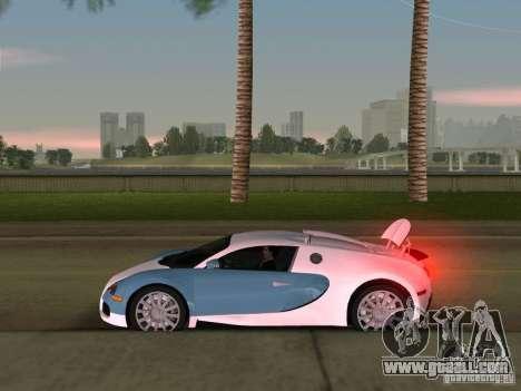 Bugatti Veyron EB 16.4 for GTA Vice City back view