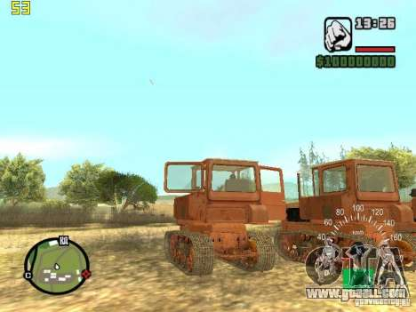 Tractor DT-75 Postman for GTA San Andreas back view