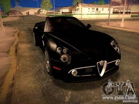 Alfa Romeo 8C Spider 2012 for GTA San Andreas