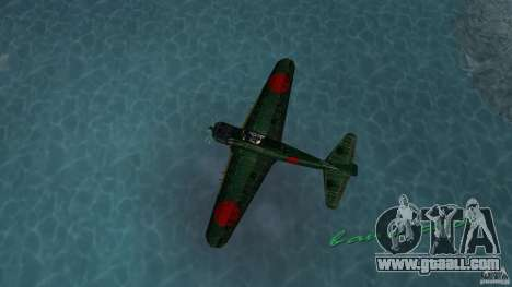 Zero Fighter Plane for GTA Vice City back left view