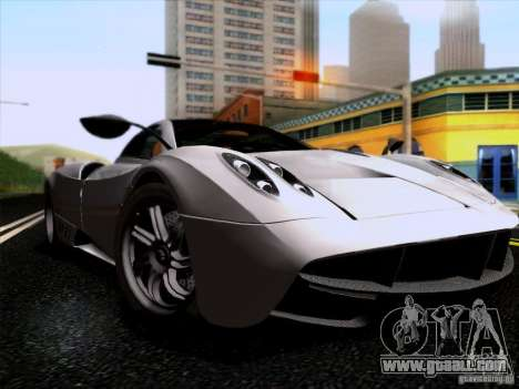 Pagani Huayra 2011 for GTA San Andreas back left view
