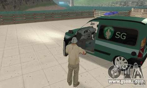 Renault Kangoo Straz Graniczna for GTA San Andreas back view