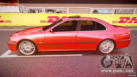 BMW 530I E39 stock chrome wheels for GTA 4 left view
