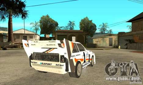 Audi Quattro S1 Pikes Peak for GTA San Andreas right view