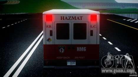LCFD Hazmat Truck v1.3 for GTA 4 engine