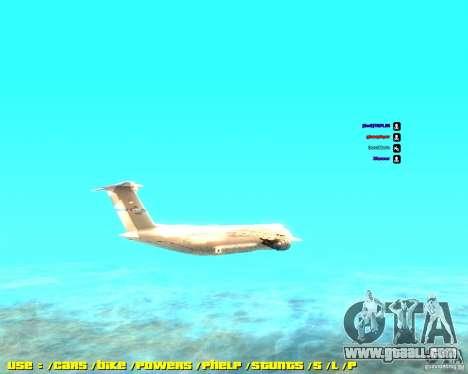 Lockheed C5-M Super Galaxy for GTA San Andreas left view