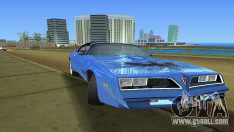 Pontiac Trans Am 77 for GTA Vice City right view