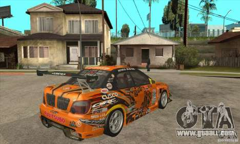Subaru Impreza D1 WRX Yukes Team Orange for GTA San Andreas right view